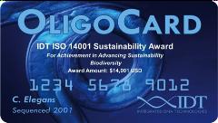 IDT ISO 14001 Sustainability Award