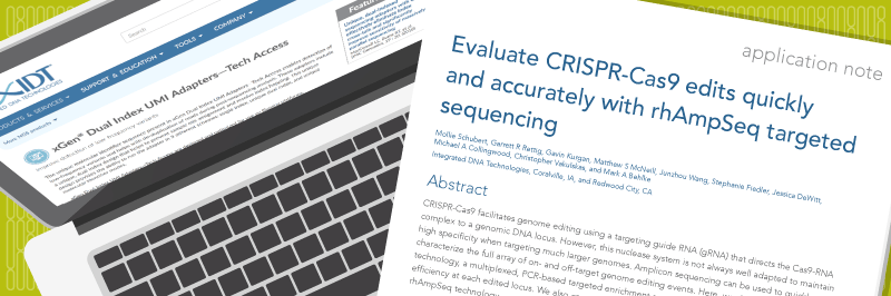 CRISPR validation with rhAmpSeq™ technology