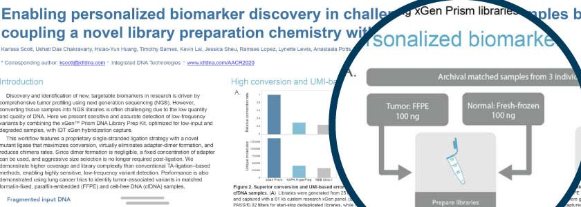 Enabling personalized biomarker discovery in challenging oncology research samples hero image