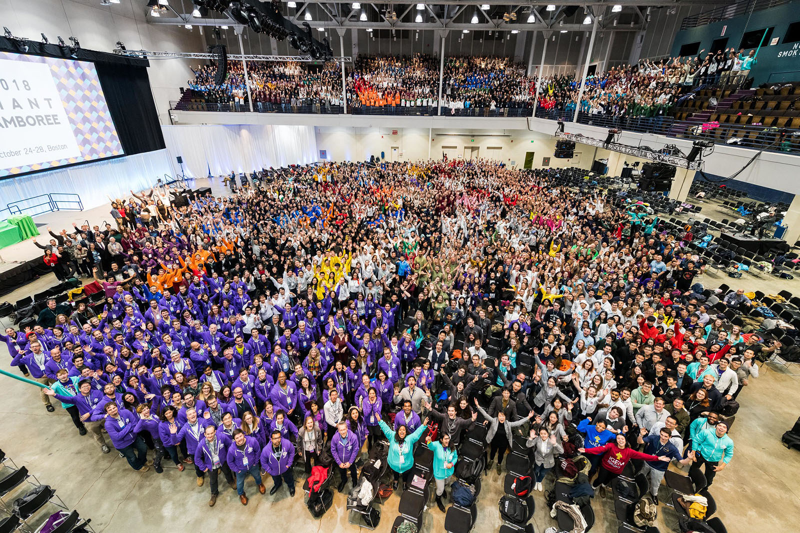 Teams present at the iGEM Jamboree in the fall