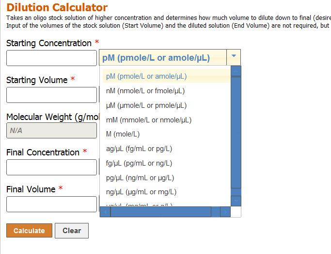 WebTools Dilution Calc Figure 2B page 11