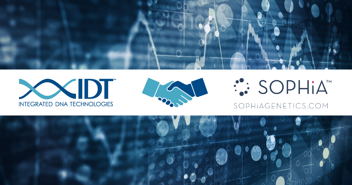 IDT and Sophia Genetics partnership graphic