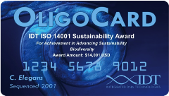 IDT ISO 14001 Sustainability Award