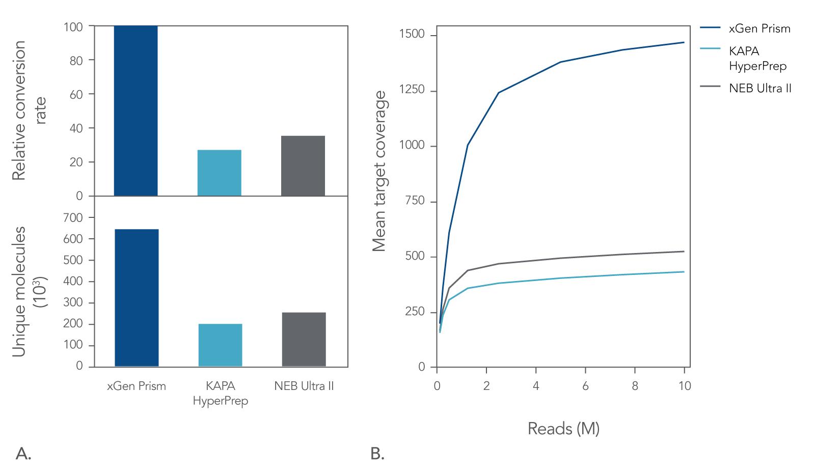 cfDNA library prep conversion rates